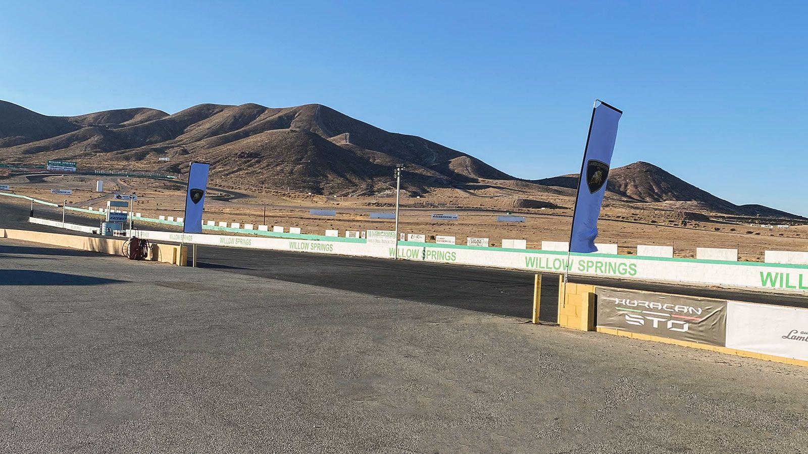 Lamborghini raceway flags