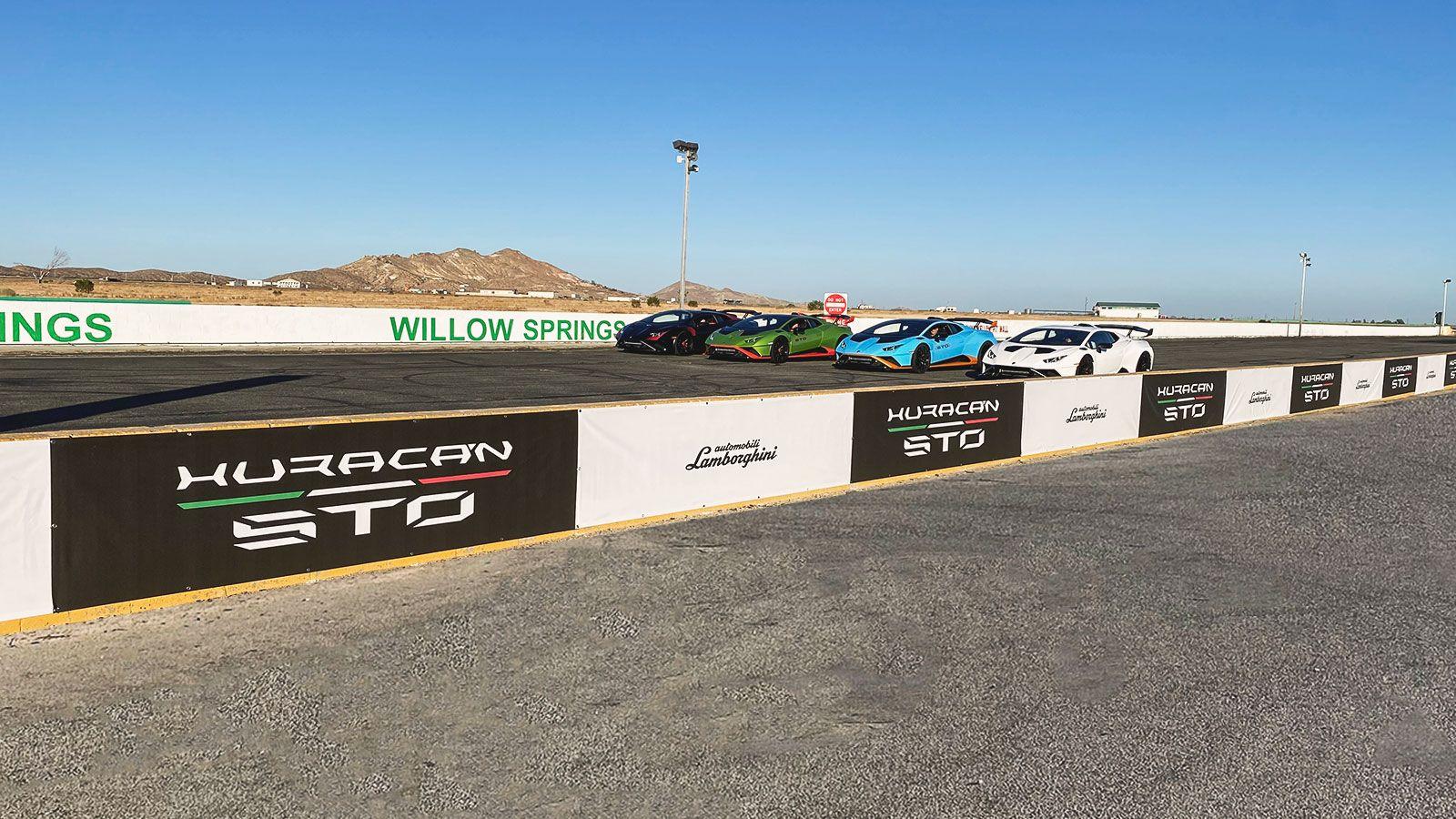 Lamborghini raceway vinyl banners