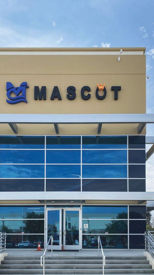Mascot building sign
