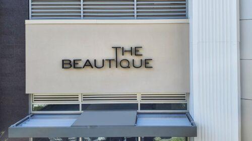 The beautique backlit letters
