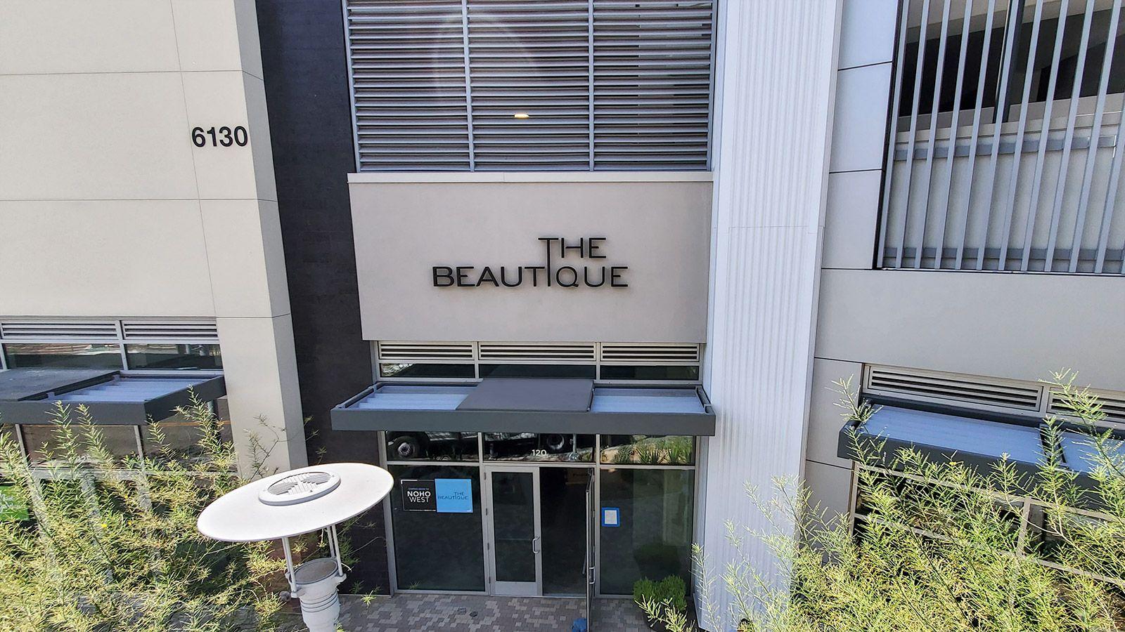 The beautique reverse channel letters