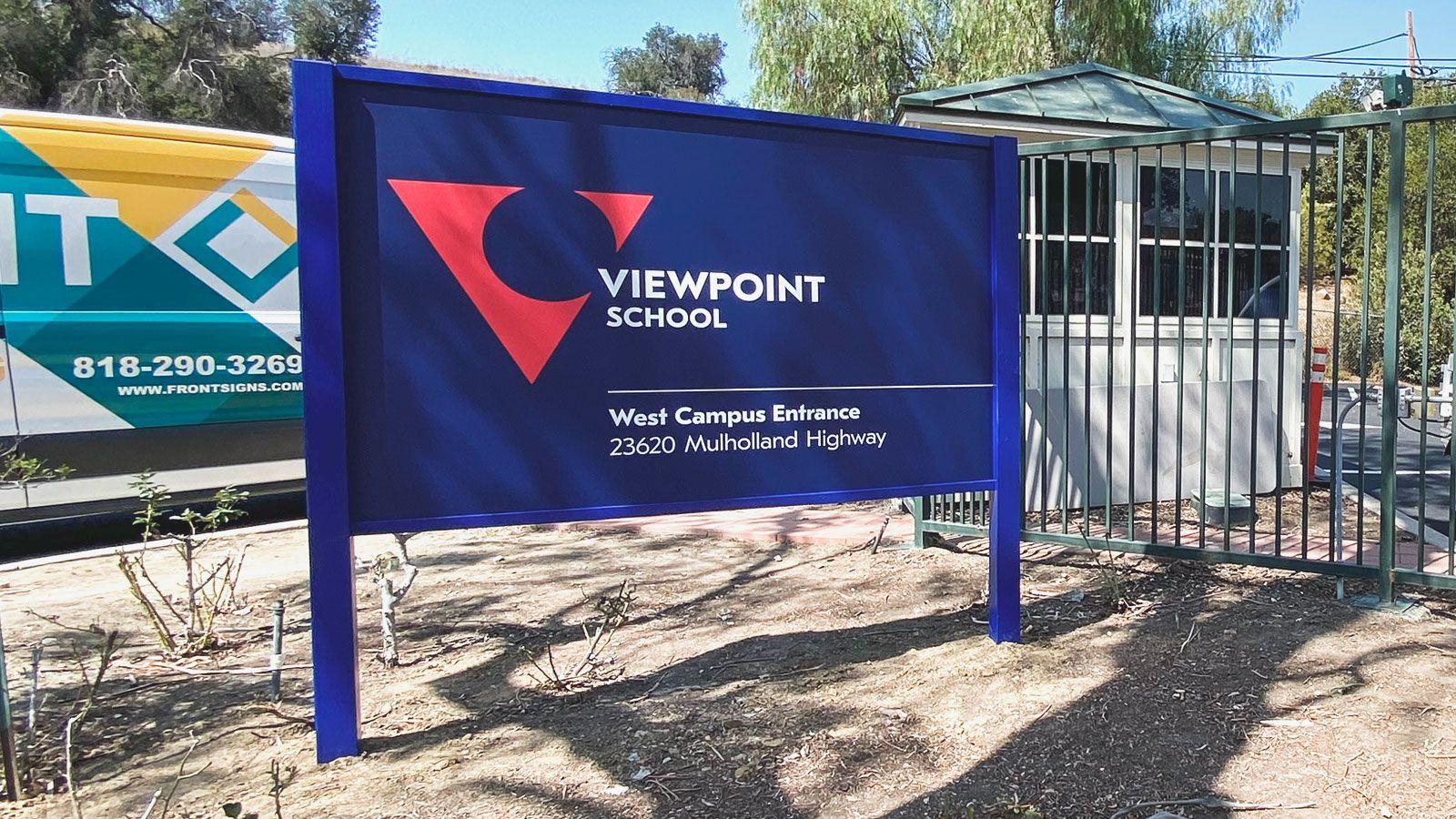 Viewpoint school dibond sign