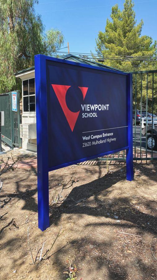Viewpoint school outdoor sign