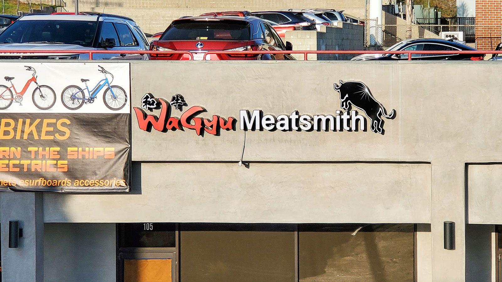 Wagyu meatsmith channel letters