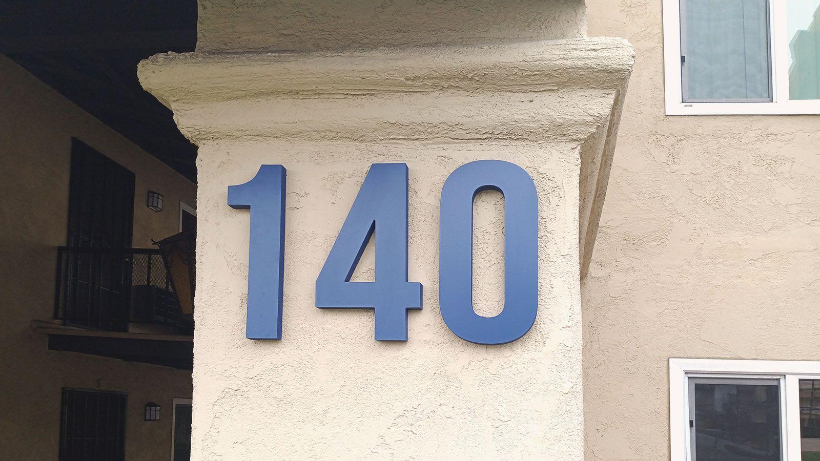 address pvc sign