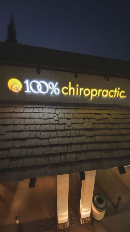 chiropractic LED building sign