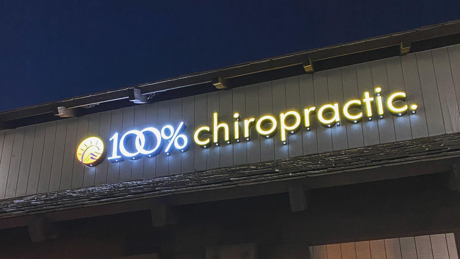 chiropractic outdoor illuminated sign