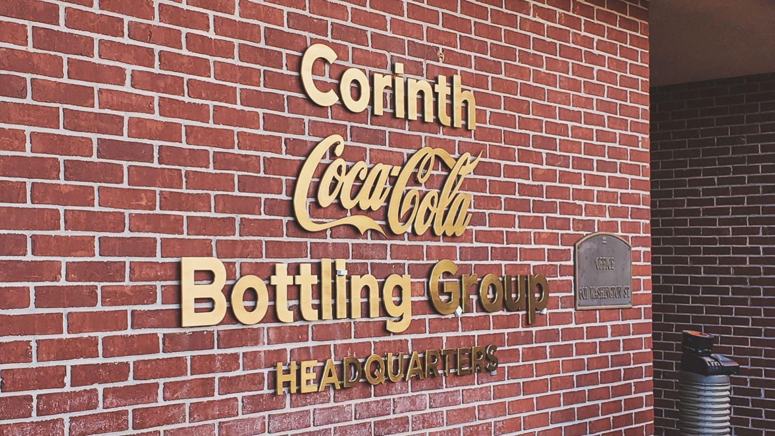 coca cola building sign
