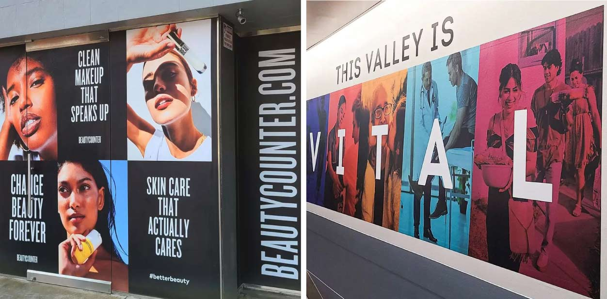 Large branded displays for creative placemaking