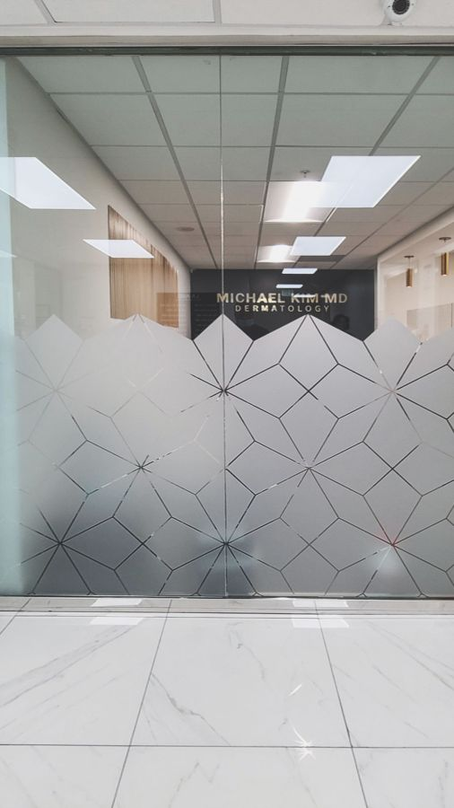 custom office frosted decals
