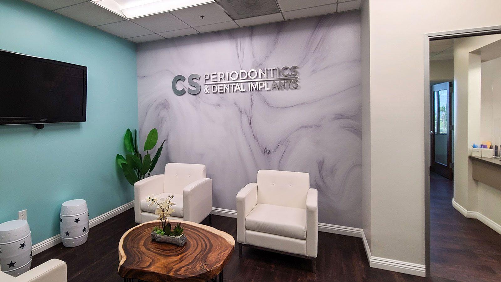 dental clinic aluminum 3d letters