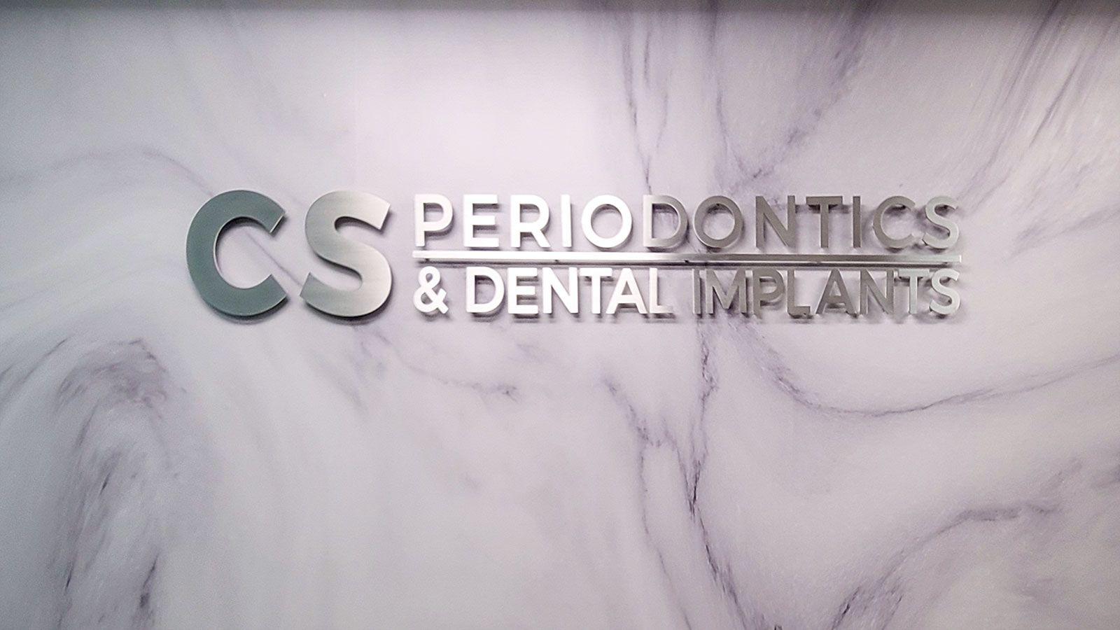 dental clinic aluminum sign