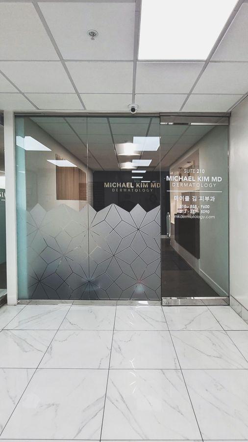 dermatology office window decals