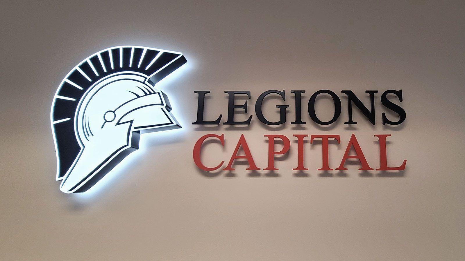 legions capital 3d sign