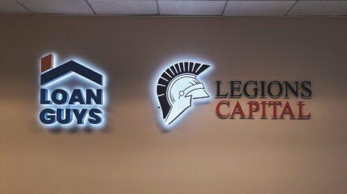 loan guys backlit sign