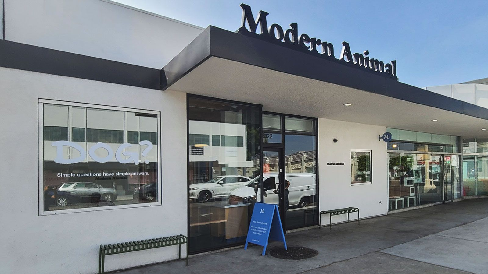 modern animal storefront decal