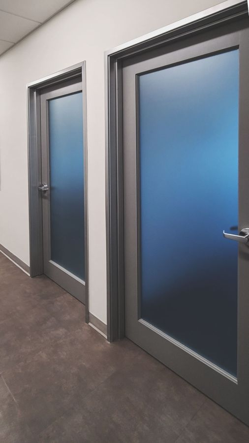 office doors frosted decals