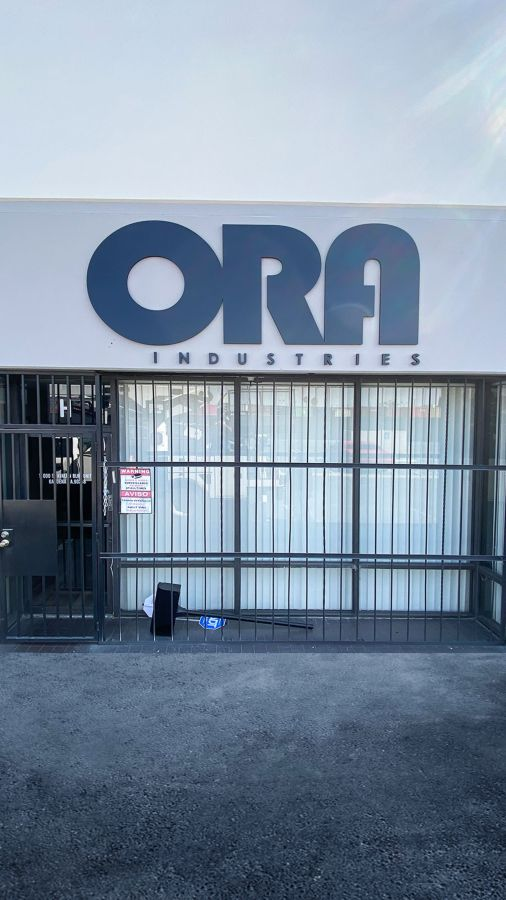 ora industries building sign