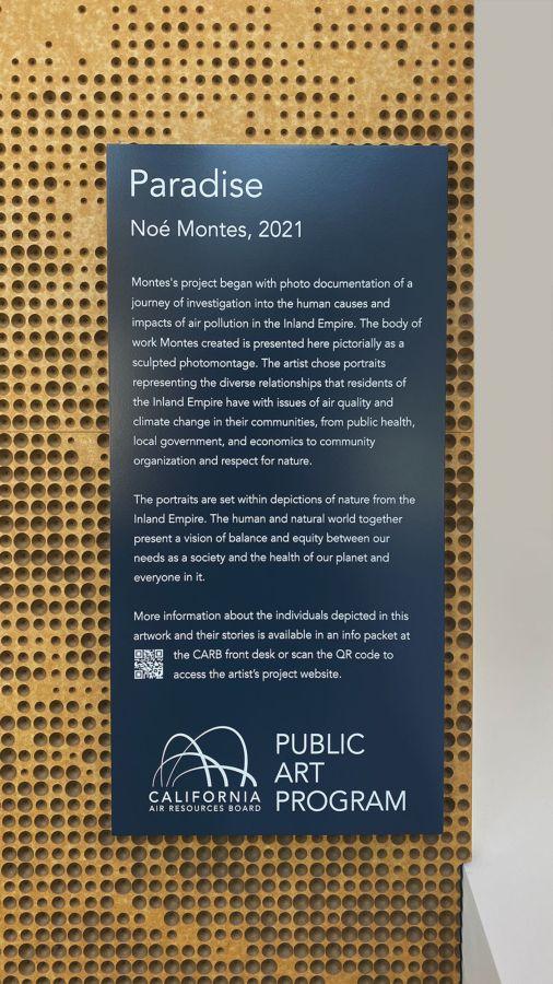 public art program aluminum sign