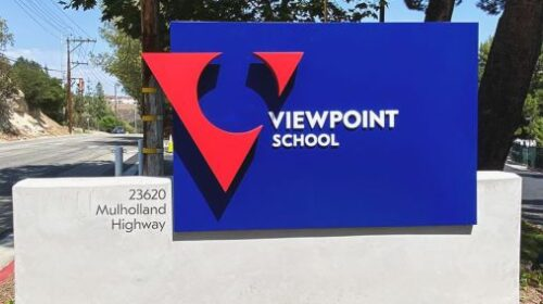viewpoint school custom monument sign