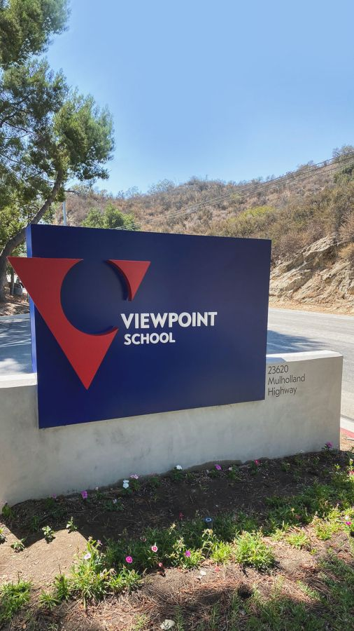 viewpoint school monument sign