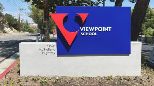 viewpoint school monument signage