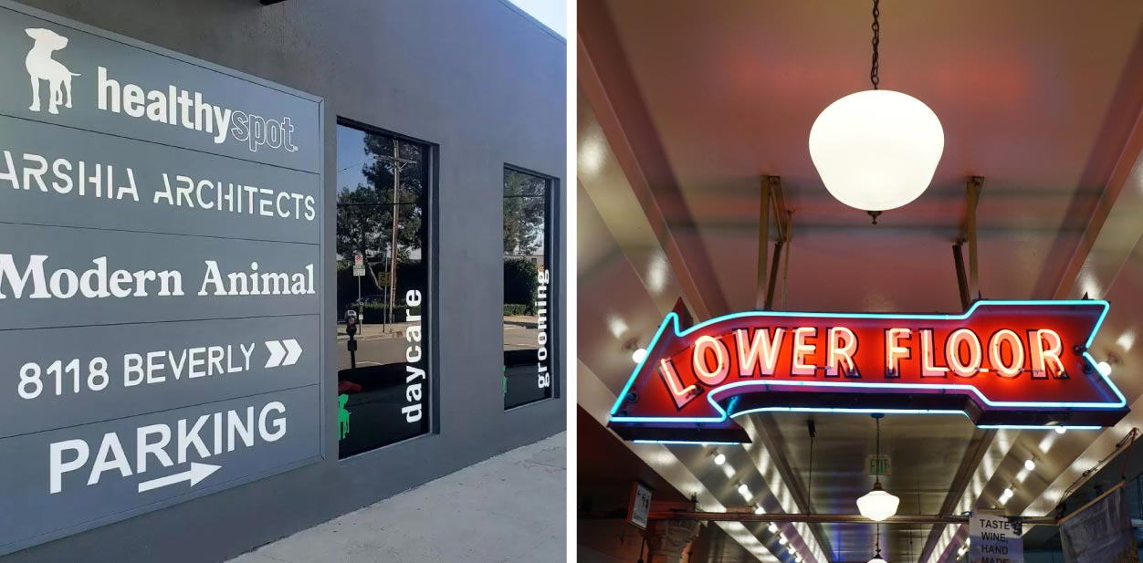 Creative placemaking wayfinding elements for interior and exterior spaces