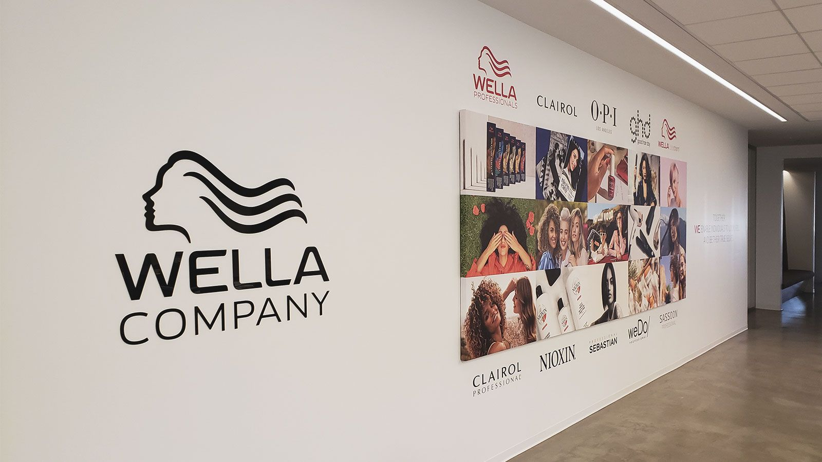 wella lobby signs