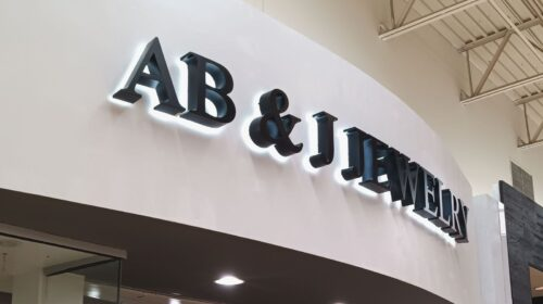 Jewelry store sign installation