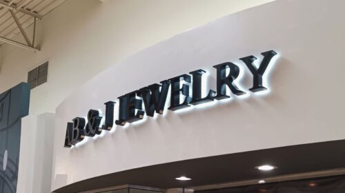 Jewelry store sign reinstallation