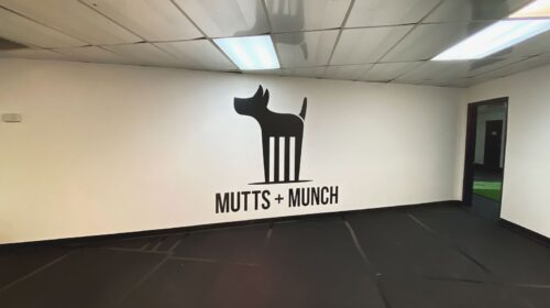 Mutts and Munch wall decal