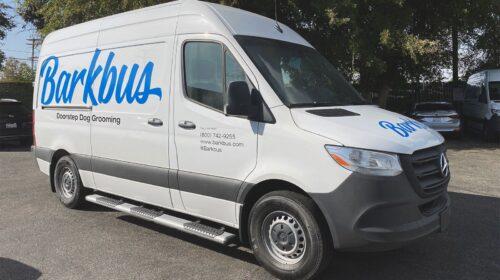 barkbus company van graphics